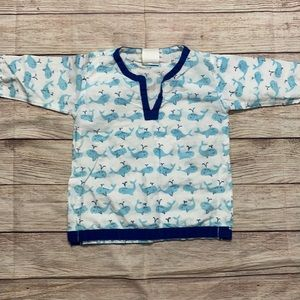 Pottery Barn Kids Whale Tunic Coverup 6-12 Months